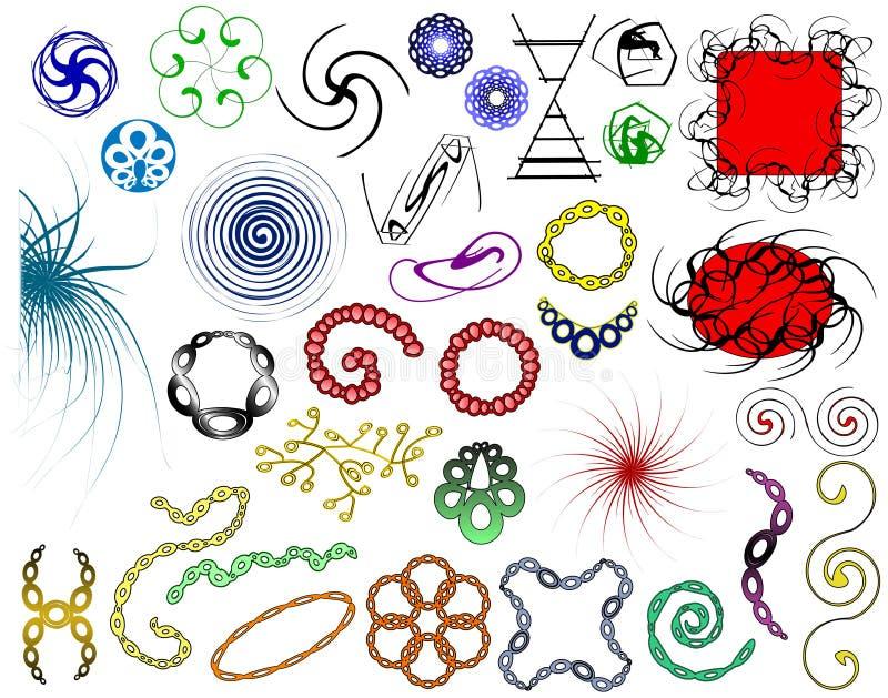 blandade element royaltyfri illustrationer