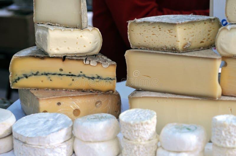 Blandade franska ostar arkivfoton