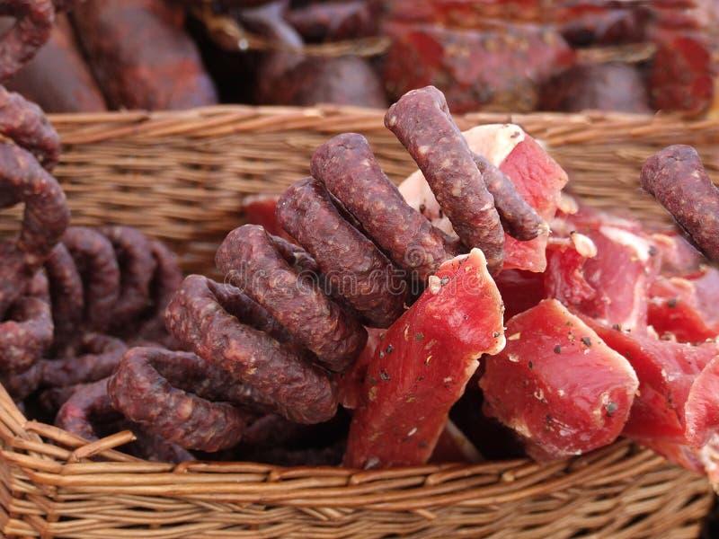 Blandade köttprodukter royaltyfria foton