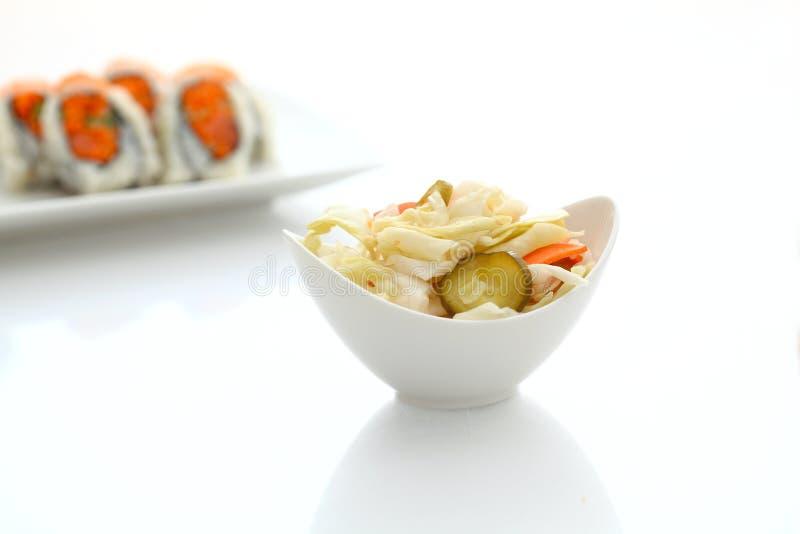 Blandade knipor och sushi fotografering för bildbyråer