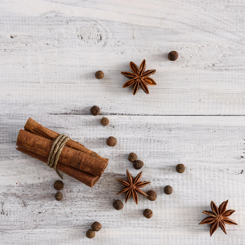 blandade kryddor arkivfoto