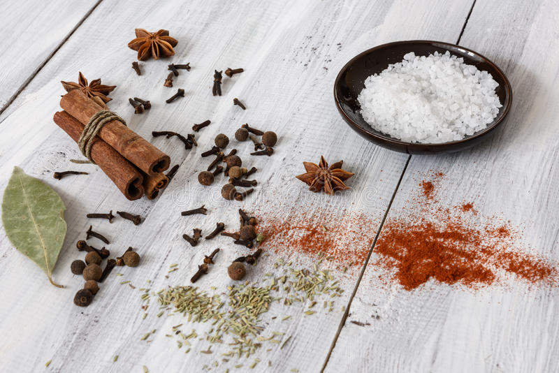 blandade kryddor arkivbilder