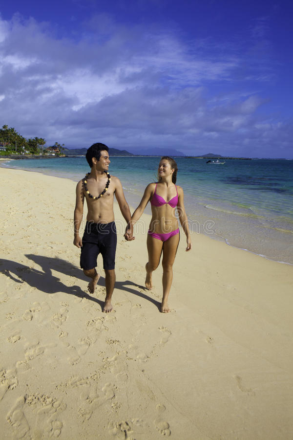 Blandade par i hawaii royaltyfria foton