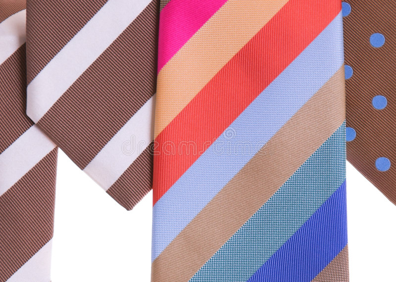 blandade slipsar royaltyfri bild