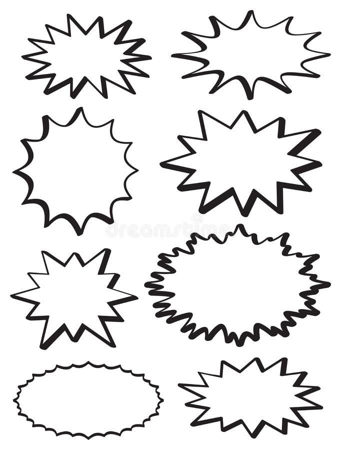 Blandade stjärnabristningar vektor illustrationer