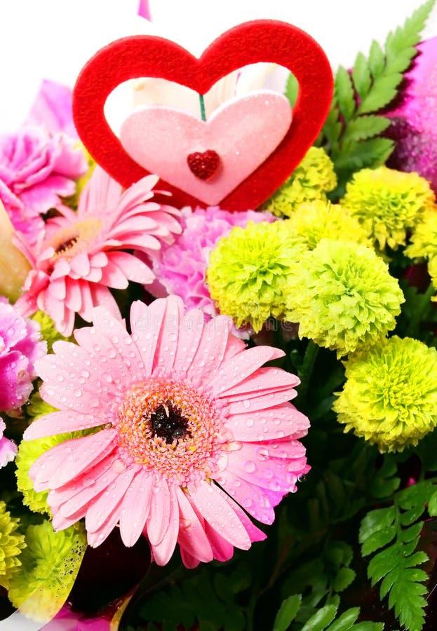 Blandade Valentine Flower arkivbilder