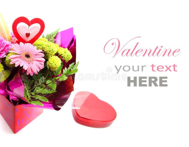 Blandade Valentine Flower arkivbild