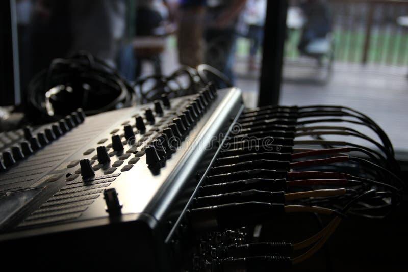 Blandande bräde för Live Audio royaltyfri foto