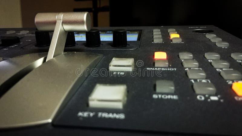 Blandande konsol för yrkesmässig video med handtaget fotografering för bildbyråer