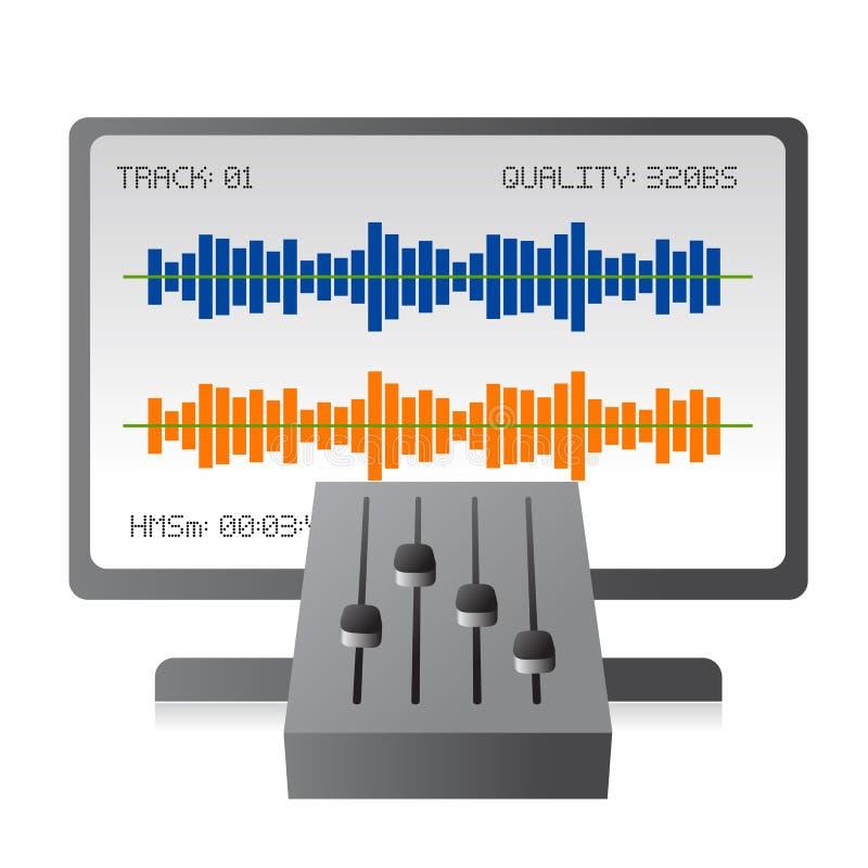 blandande musikspår för blandare vektor illustrationer
