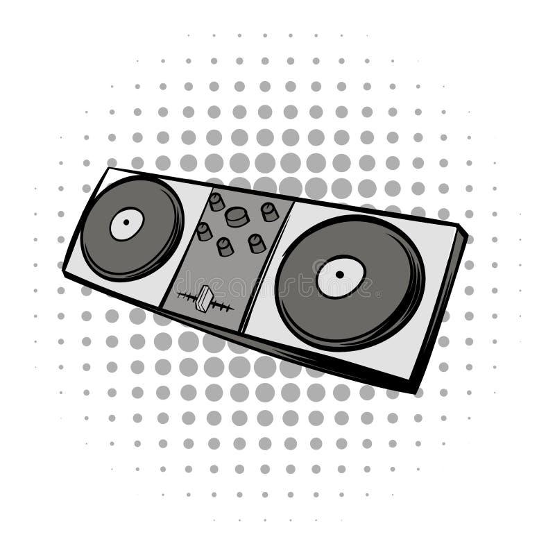 Blandande svart komikersymbol för konsol royaltyfri illustrationer