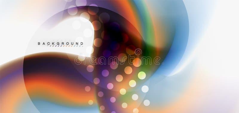Blandande vätskebakgrund för färgflödesabstrakt begrepp Moderiktig abstrakt orienteringsmall för affärs- eller teknologipresentat royaltyfri illustrationer