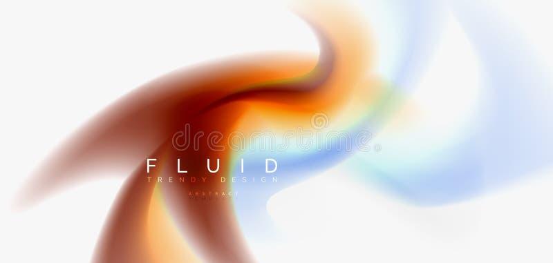 Blandande vätskebakgrund för färgflödesabstrakt begrepp Moderiktig abstrakt orienteringsmall för affärs- eller teknologipresentat vektor illustrationer