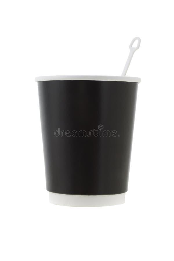 blandare för kopp för svart kaffe royaltyfria foton