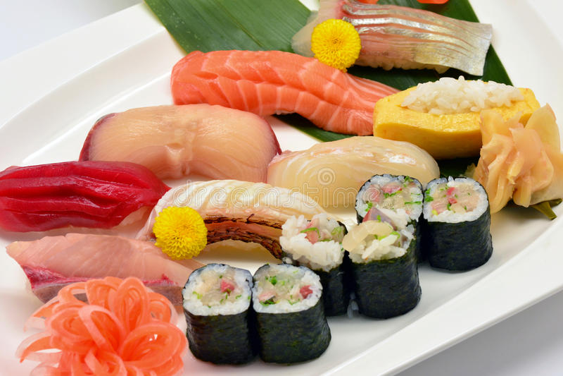 Blandat av sushi royaltyfri fotografi