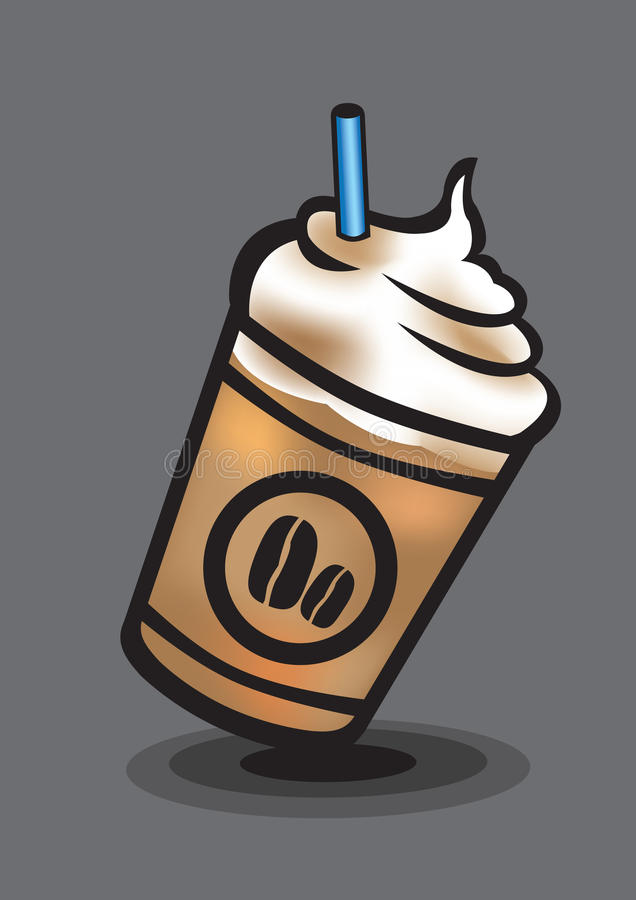 Is blandat kaffe med Whip Cream Vector Illustration vektor illustrationer