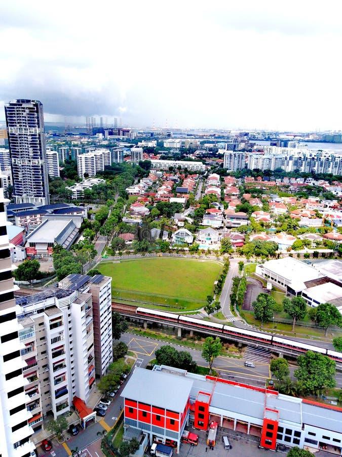 Blandat landbruk i Singapore arkivbilder