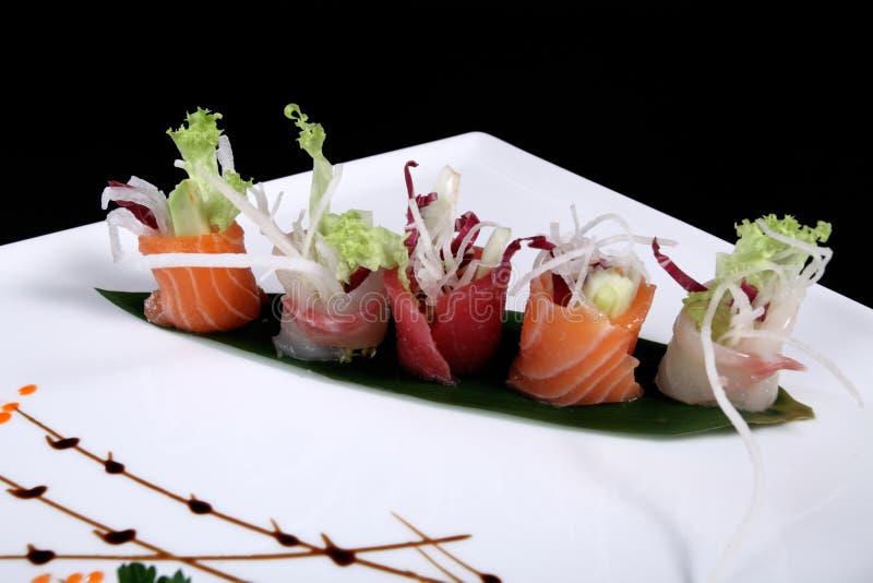 Blandat sushiG arkivbild