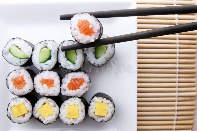 Blandat sushimål - serie 2 royaltyfria bilder