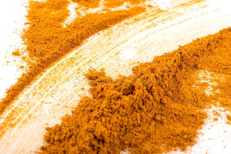 Blandning av indisk krydda- och örtpulvertextur arkivbilder