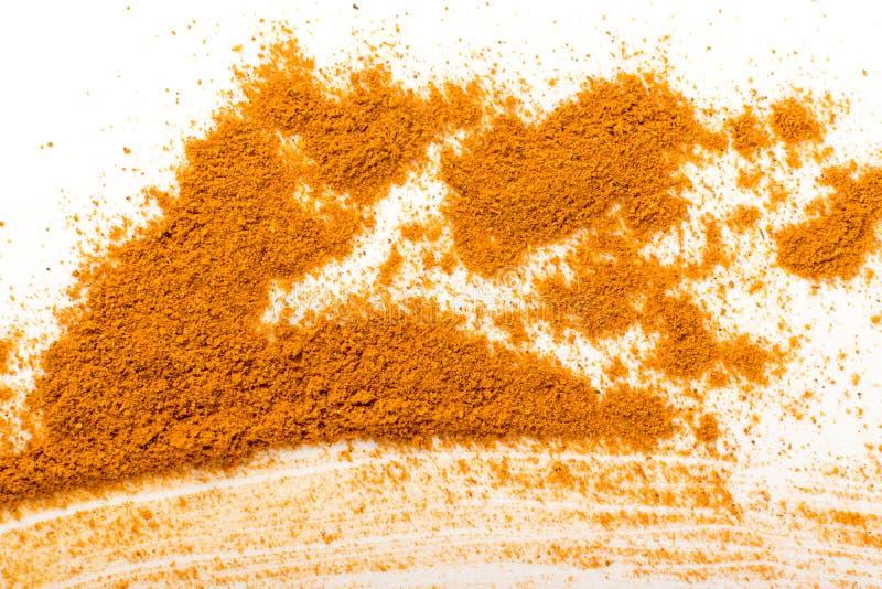 Blandning av indisk krydda- och ?rtpulvertextur royaltyfri fotografi