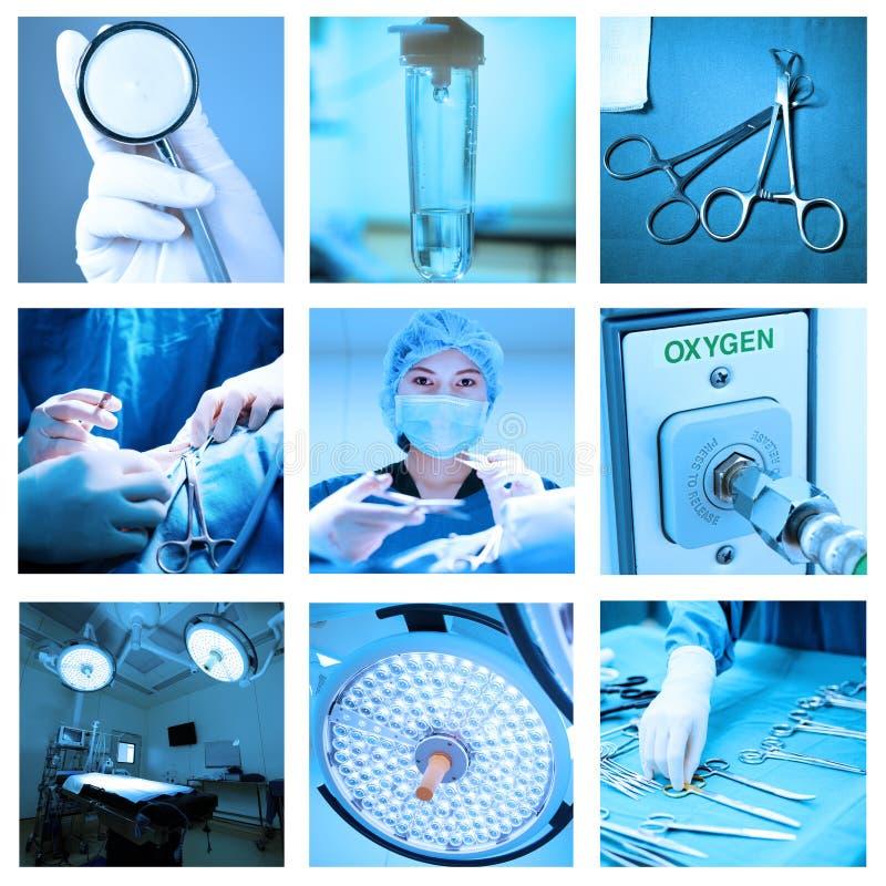 Blandning av utrustning och läkarundersökningen i fungeringsrum royaltyfri bild