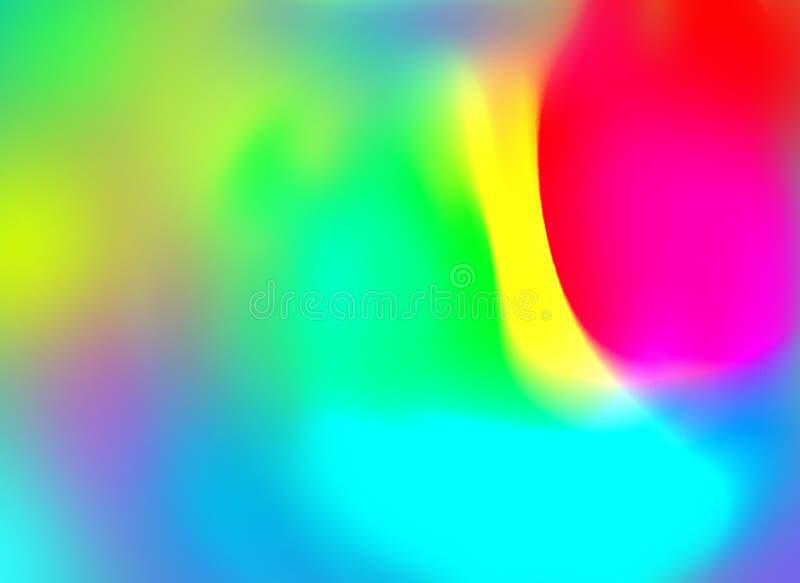 Blandning färgad bakgrund med suddighetseffekt stock illustrationer