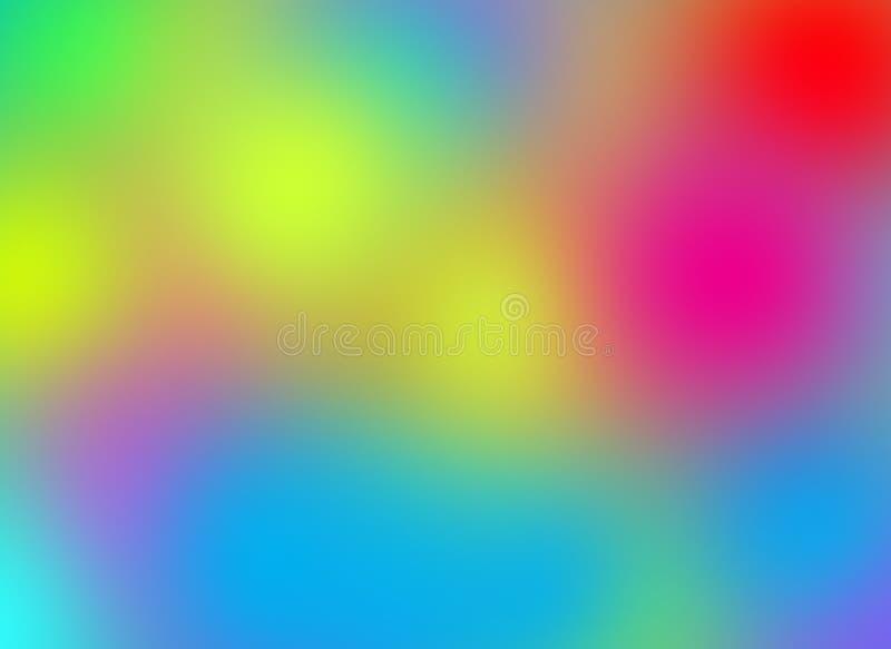 Blandning färgad bakgrund med suddighetseffekt royaltyfri illustrationer