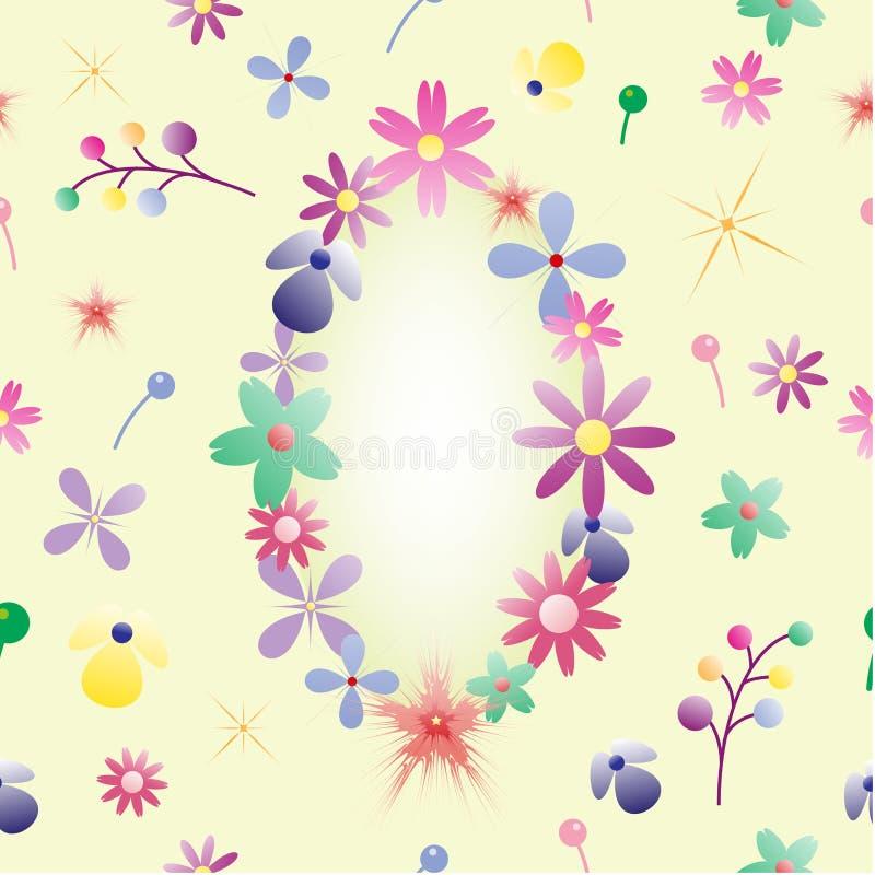 Blandningen blommar bakgrund royaltyfri bild