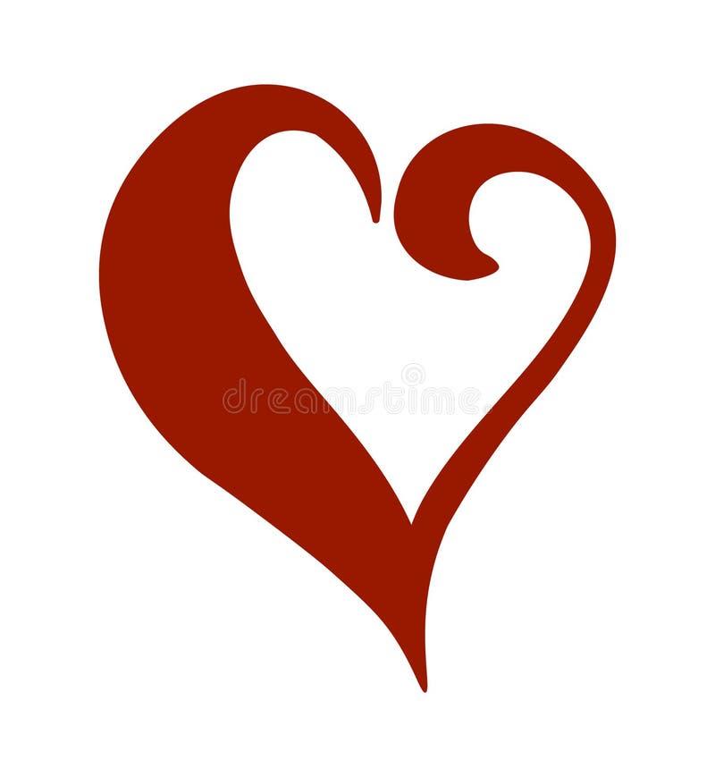 blandningen colors den globala hjärtavektorn Designbeståndsdelar för dag för valentin` s vektor illustrationer