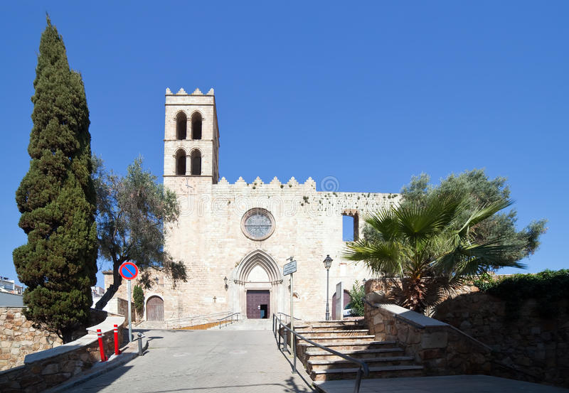 blanes καθολική εκκλησία Mary ST στοκ φωτογραφίες