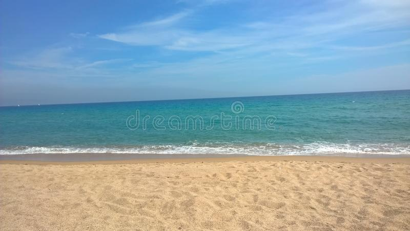 Blanes Beach stock photography