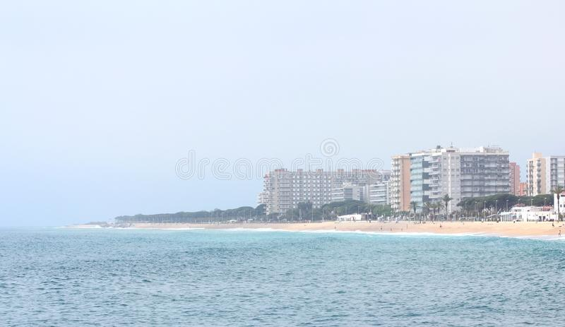 Blanes beach royalty free stock photos