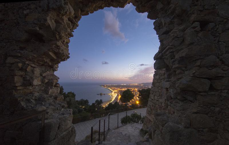 Blanes on the Costa Brava from the castle. Girona stock photos