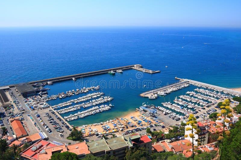 Blanes haven (Costa Brava, Spanje) royalty-vrije stock foto's