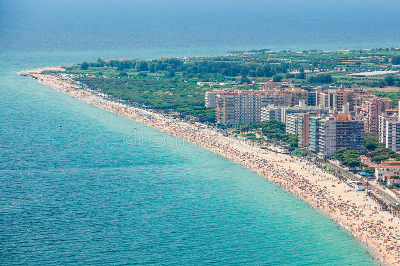 Download Blanes summertime stock photo. Image of panorama, baix - 29049538