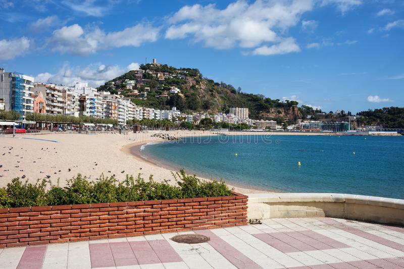 Blanes Town on Costa Brava in Spain royalty free stock photography