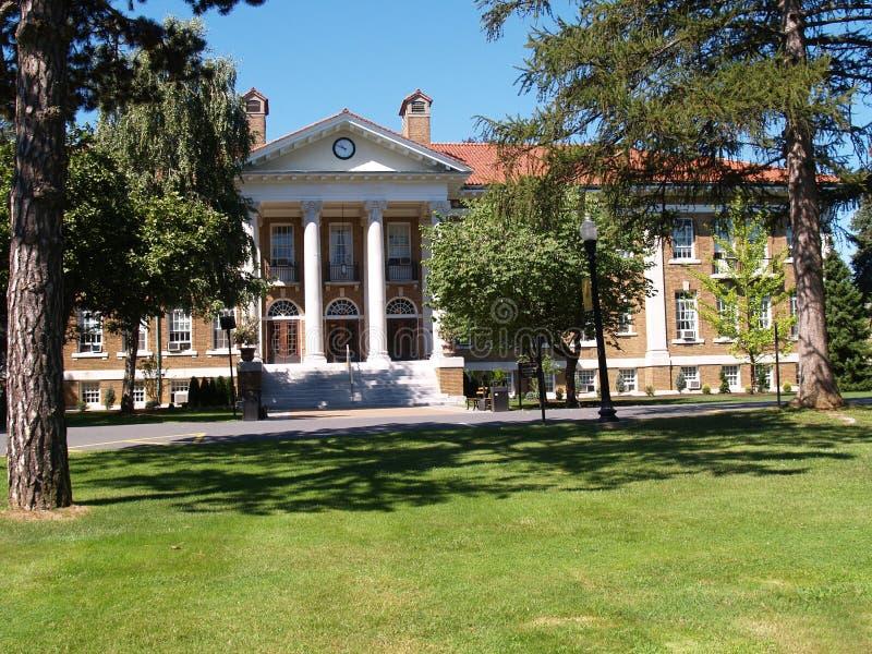 Blaney Hall, université de crête de cèdre image libre de droits