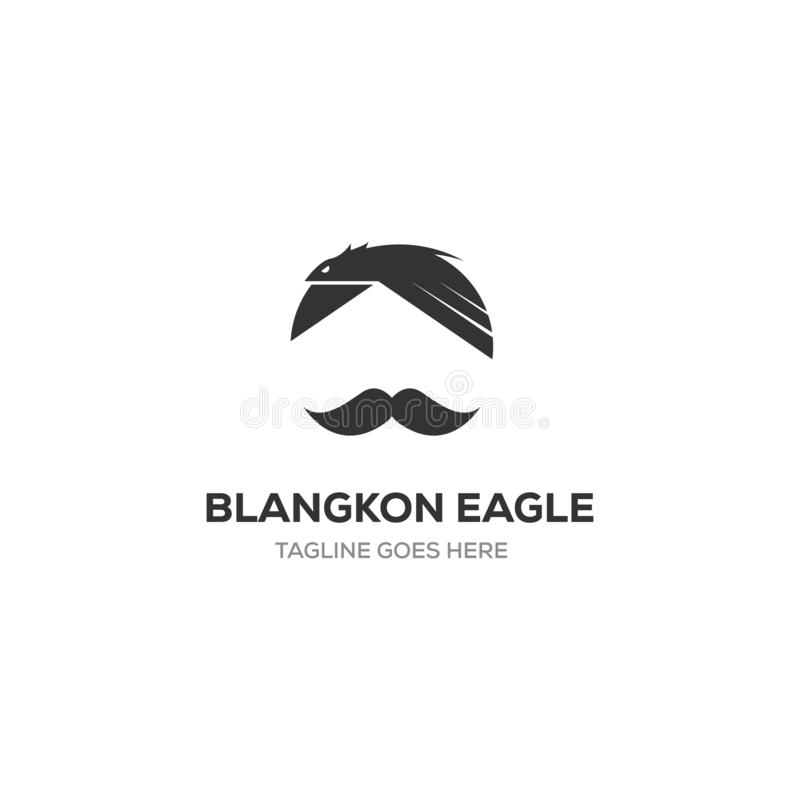 Blangkon is traditional hat of indonesia country, eagle symbol stock illustration