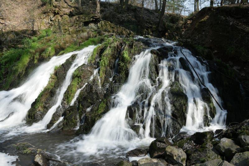 Blangy瀑布在Picardie,法国 库存图片
