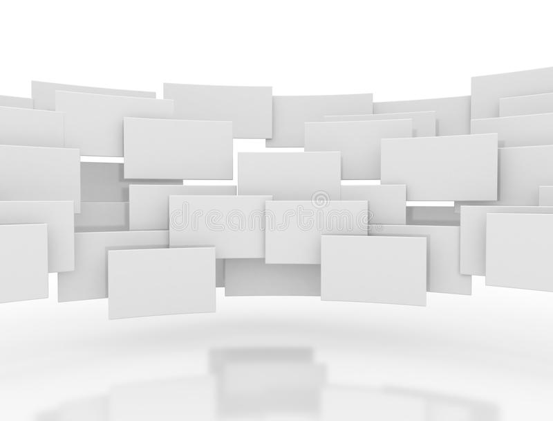 Blank 3d squares royalty free stock photos