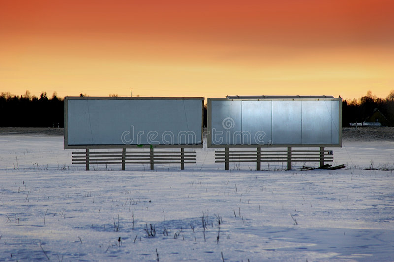 Download Blank ad board stock image. Image of glow, empty, snow - 197861