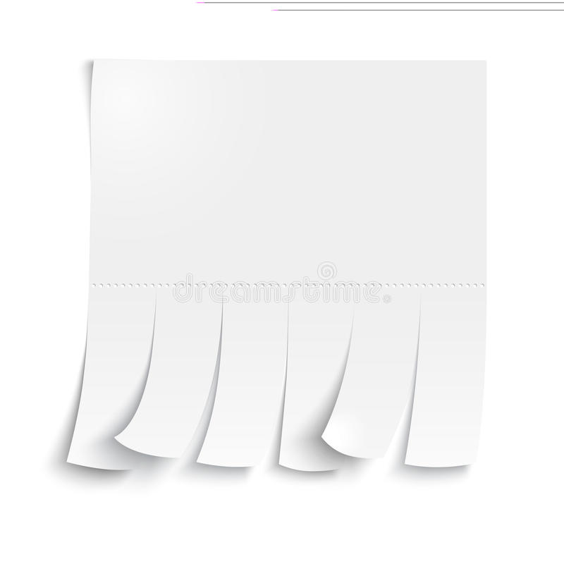 Blank advertisement with cut slips. On a white background vector illustration