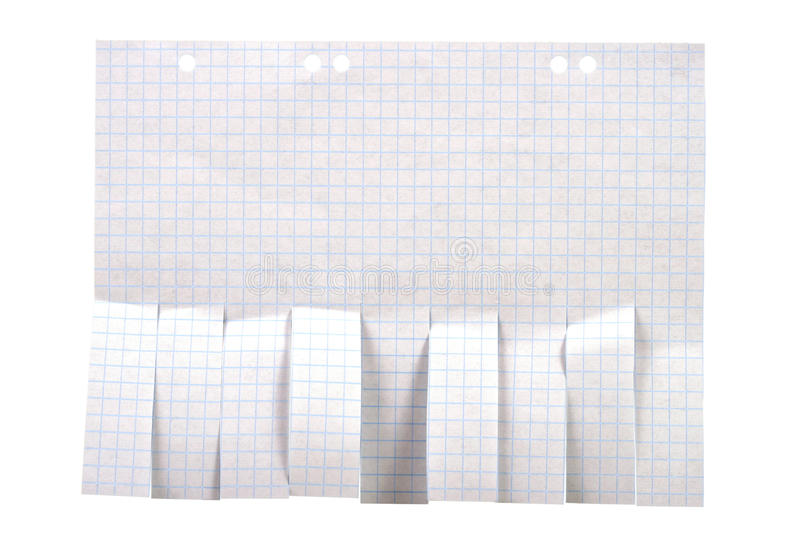 Blank advertisement paper with cut slips