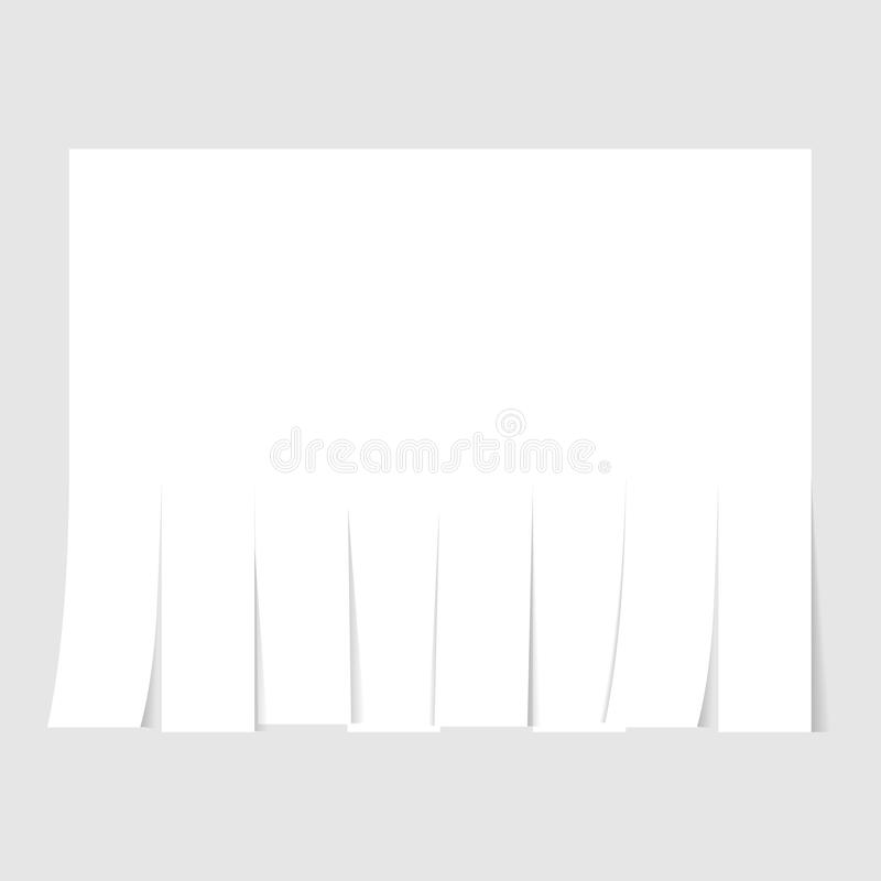 Blank advertisement template with cut slips. Vector illustration royalty free illustration