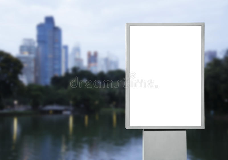 Blank advertising billboard in the city. For design work royalty free stock images