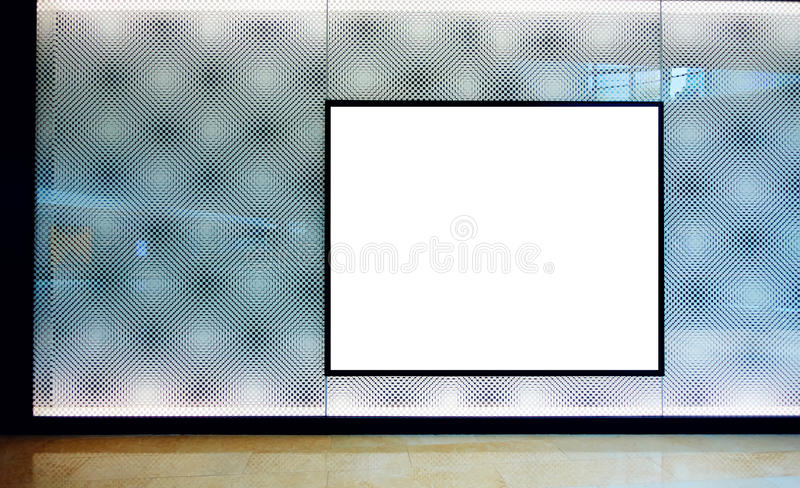 advertising blank billboard royalty free stock image