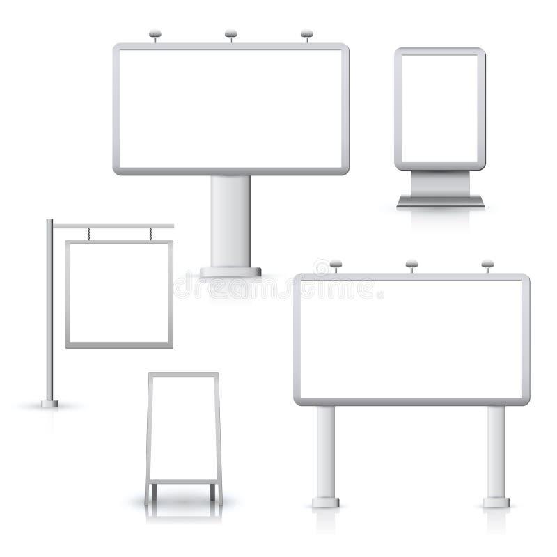 Blank advertising boards royalty free illustration