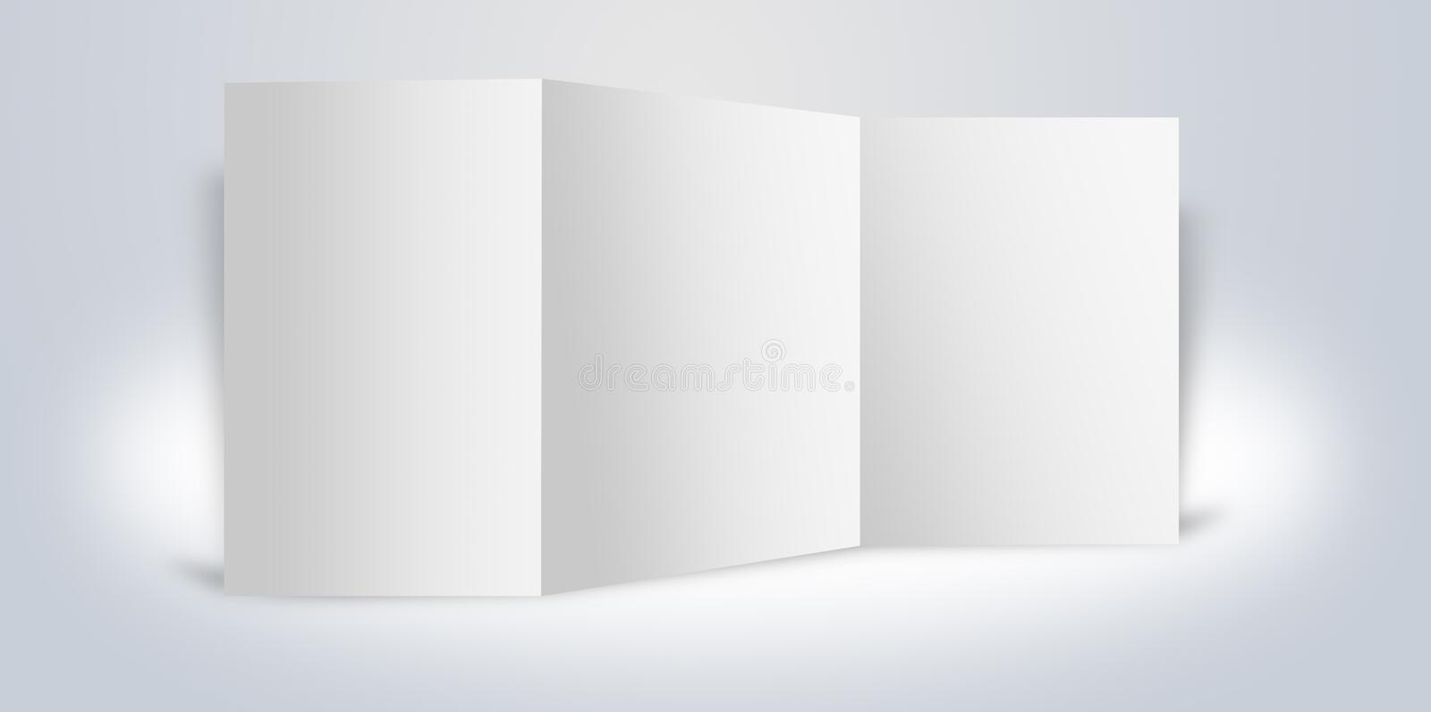 Blank advertising boards stand stock illustration