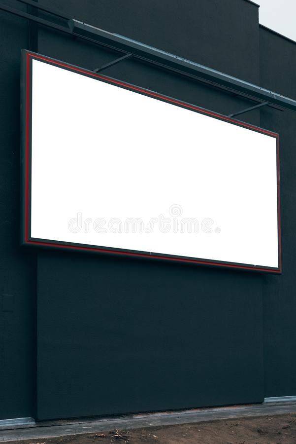 Blank advertising city billboard poster copy space. On urban building for graphic design mock up stock image